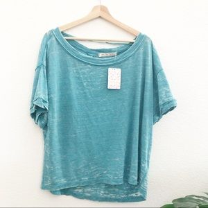 Free People Oversized Open Back Tee Size Small